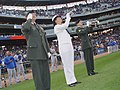 US Navy 090916-N-2888Q-001 Master Sgt. Jeff Rector, left, U.S. Army Michigan coordinator for casualty assistance calls, salutes.jpg