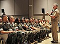 US Navy 100504-N-7367K-003 Chief of Naval Operations (CNO) Adm. Gary Roughead speaks to Seabees assigned to Naval Construction Battalion Center, Gulfport before taking a tour of the base.jpg