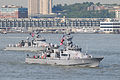 US Navy 100526-N-5244H-002 The Cyclone-class coastal patrol ships USS Tempest (PC 2), left, and USS Monsoon (PC 4) make their way down the Hudson River en route to Fleet Week New York 2010.jpg