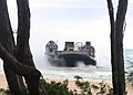 US Navy 100624-M-9232S-001 A landing craft, air-cushion (LCAC) transports explosive ordinance disposal equipment to Marine Corps Training Area Bellows.jpg