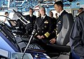 US Navy 100816-N-8273J-061 Chief of Naval Operations (CNO) Adm. Gary Roughead tours the bridge of the Norwegian Navy Nansen-class frigate HNoMS Otto Svedrup (F-312.jpg