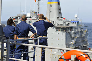 US Navy 111228-N-KS651-232 Sailors man the phone and distance line.jpg