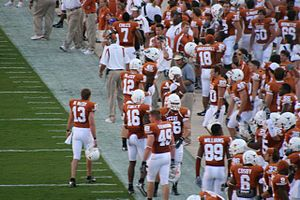 2007 TCU Horned Frogs football team - Texas sideline prior to TCU game