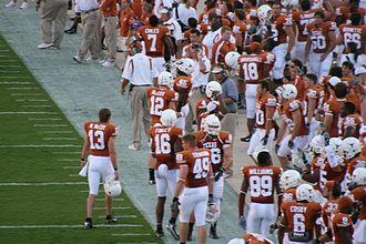 2007 TCU Horned Frogs football team - Texas sideline prior to TCU game