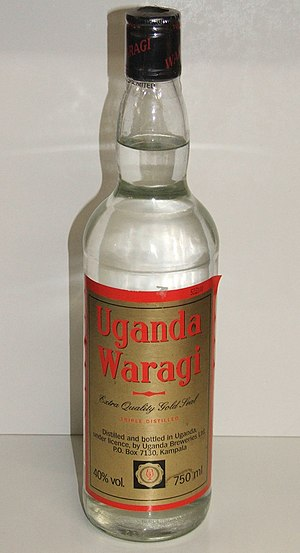 Culture of Uganda - Waragi imported from Uganda.