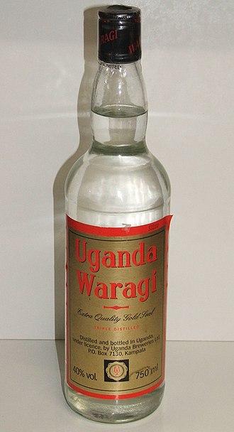 Culture of Uganda - Waragi imported from Uganda.