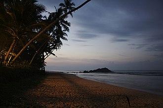 Unawatuna - Mihiripenna Beach in Unawatuna at Dawn