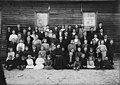 Unidentified School, Wayne County, NC; ca 1910. Students and their teacher pose outside a rural frame one-room school house. From the Wayne County Schools Photo Collection, PhC.209, State Archives of (18469934343).jpg