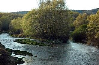 Órbigo - The union of the rivers Luna and Omaña at this point form the Órbigo river