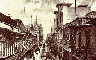 History of Lima - Jirón de la Unión was the main street of Lima in the early 20th century.