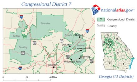 Georgia's 7th congressional district - Wikiwand on kentucky districts map, ohio georgia map, florida map, washington georgia map, nebraska georgia map, connecticut georgia map, north georgia map, kentucky georgia map, south carolina georgia map, europe georgia map, columbia georgia map, united states senate map, new jersey georgia map,