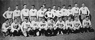 Daniel Carroll (rugby union) - Carroll with the US team in 1913 (pictured back row, first from left)