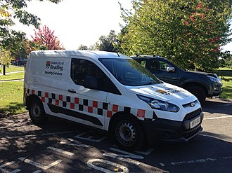 Campus police - A Ford Transit Connect in use as a response vehicle for the University of Reading's security services.
