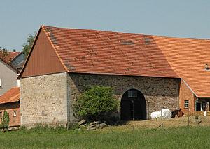 Haunetal - Tithe barn in Unterstoppel