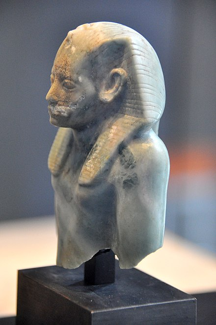 Upper part of a statue of Amenemhat III. 12th Dynasty, c. 1800 BC. State Museum of Egyptian Art, Munich Upper part of a statue of Amenemhat III. 12th Dynasty, c. 1800 BC. State Museum of Egyptian Art, Munich.jpg