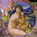 Urbino, francesco xanto avelli, frammento di coppa con venere e cupido, 1530 ca. (da marcantonio raimondi).JPG