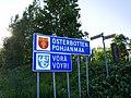 Vöyri municipal border sign 20170628.jpg