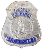 Badge of a Virginia State Trooper