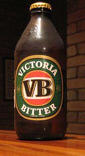 Victoria Bitter Australian beer brand