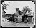 VIEW OF WEST ELEVATION - Whitehall, Log Cabin, Clay Lane, Richmond, Madison County, KY HABS KY,76-WHAL,1A-1.tif