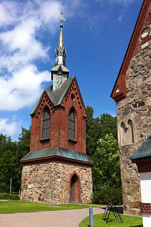 Church of St. Lawrence, Vantaa - The bell tower.
