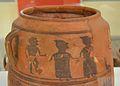 Vas de la dansa ritual, Edeta, Museu de Prehistòria de València.JPG