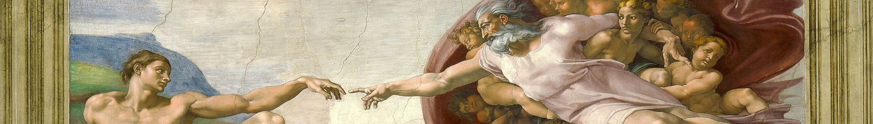 The Creation of Adam in the Sistine Chapel.