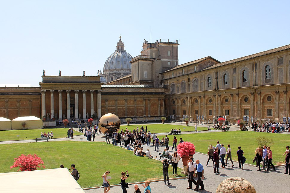 Main courtyard of the Vatican Museums