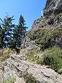 Velký Ostrý - poslední metry pod vrcholem.JPG