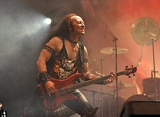"""Cronos (band) - Conrad """"Cronos"""" Lant performing in 2013."""