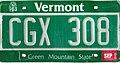 Vermont 2000 license plate CGX 308.jpg