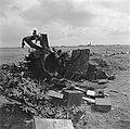 Vernielde Duitse geschutsopstelling bij de Kop van de Afsluitdijk, Bestanddeelnr 900-2680.jpg