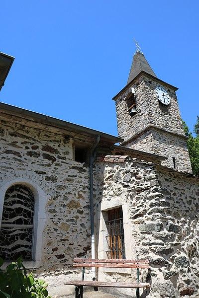 Verreries-de-Moussans (Hérault) - clocher de l'église Saint-Thomas