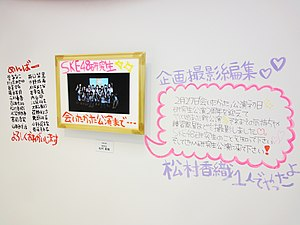 Kaori Matsumura - The video display exhibit used for the AKB48 Art Exhibition.