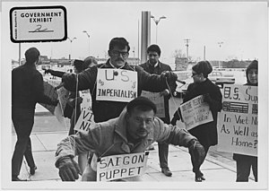 Vietnam War protesters. 1967. Wichita, Kans - ...