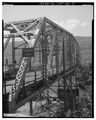 View Southeast, North end - Chelyan Bridge, Spanning Kanawha River at U.S. Route 61 spur, Chelyan, Kanawha County, WV HAER WVA,20-CHEY,1-5.tif