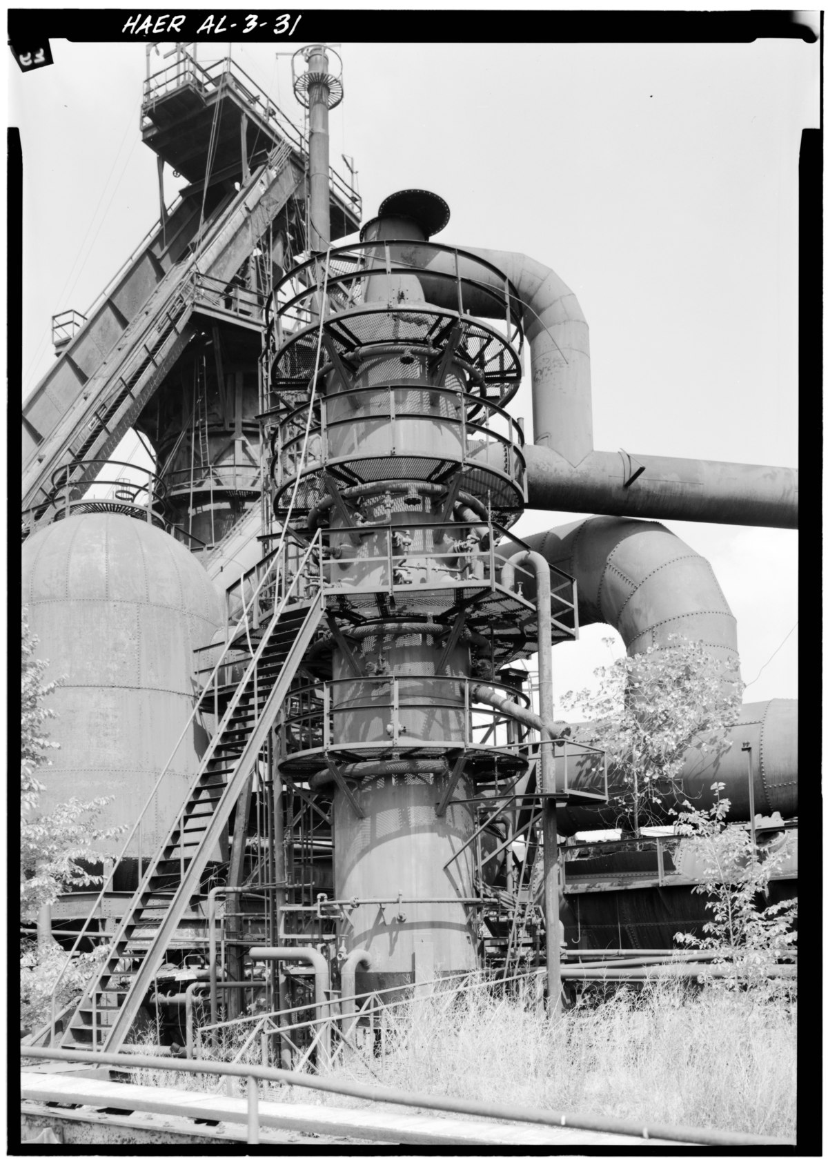 File:View from southeast of vertical gas washer with No. 2 ...