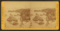 View of men standing on rocks, from Robert N. Dennis collection of stereoscopic views.png