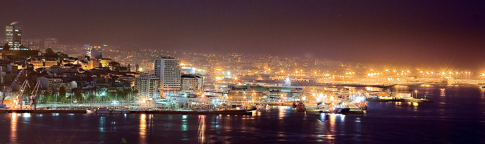 Fachada marítima de Vigo.