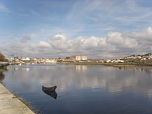 Vila do Conde - The town of Vila do Conde on the River Ave