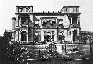 Christian Friedrich von Leins - The Villa Berg, east façade (c.1870)