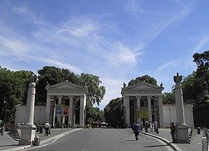 Luigi Canina - Villa Borghese: monumental entrance from Piazzale Flaminio