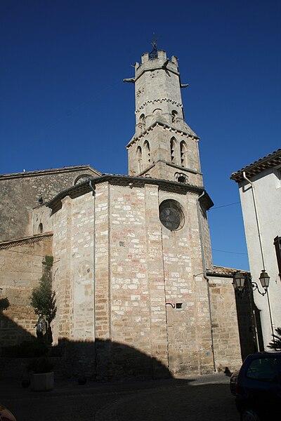 Villeneuve-lès-Béziers (Hérault) - chevet de l'église Saint-Étienne.