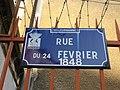 Villeurbanne - Rue du 24-Février-1848 - Plaque (mars 2019).jpg