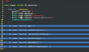 Code folding - Code folding example on PHP with vim.