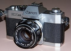 Vintage Canon EX Auto 35mm SLR Film Camera, Made In Japan, Circa 1972 - 1975 (13537580075).jpg