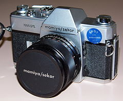 Vintage Mamiya-Sekor 1000 DTL 35mm SLR Film Camera, Made In Japan, First Camera With Dual-Pattern Through-The-Lens (TTL) Metering, Circa 1968 - 1973 (13472677203).jpg