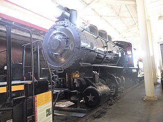 Virginian Railway - Virginian 4, the last surviving steam engine of the Virginian Railway, on display at the Virginia Museum of Transportation in Roanoke, Virginia.