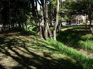 Español: Antiguos uruapanes en el recorrido de...