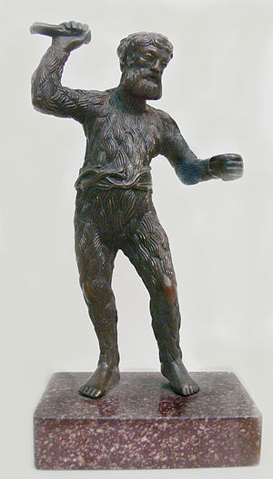 """Wild man - """"Wild Man"""", c. 1521/22, bronze by Paulus Vischer"""